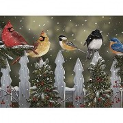 Bits and Pieces - 300 Piece Jigsaw Puzzle - Winter Perch Birds in the Snow - by Artist William Vanderdasson - 300 pc Ji