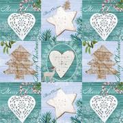 Susy card 11384682 serviette de noël imprimé sous vide, tissue, 3 couches, motif eiszauber, 33 x 33 cm-lot de 20