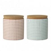 Set 2 cutii ceramice Carla