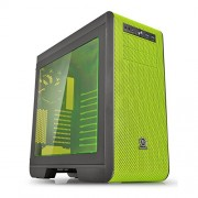 Thermaltake Core V51 Riing Edition-Gaming Case Midi Tower con finestra laterale, colore: nero/verde