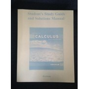 Student Study Guide and Solutions Manual for Concepts of Calculus with Applications: Student's Study Guide and Solutions Manual by Martha Goshaw