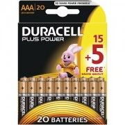 Duracell Plus Power AAA 15+5 Free (MN2400B15+5)