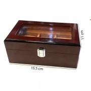 Cutie pentru 3 ceasuri din lemn masiv