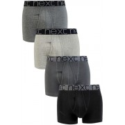 Mens Next Grey A-Fronts Four Pack - Grey