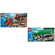 Lego City Set 60025 60027 F1 Monster Truck Transporter