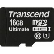 Card de Memorie Transcend microSDHC 16GB Clasa 10 UHS-1 600x