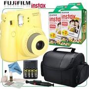 eDigital USA Fujifilm Instax Mini 8 Instant Film Camera (Yellow) & eDigitalUSA Instax Bundle