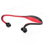 Deporte de moda MP3 Auriculares jugador w / TF - rojo oscuro + Negro