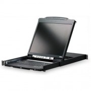 Aten Dual Rail Rackmount Console with 19- LCD Display CL-5800NA