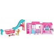 Mattel CLC31 - Barbie Casa Glam piu Piscina dei Cuccioli