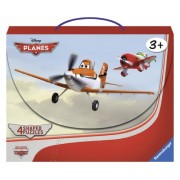 Ravensburger Disney Planes: In the Air (4 Shaped Puzzles in a Suitcase Box with Handle (10, 12, 14,