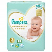 Scutece Pampers Premium Care 3 Midi Jumbo Pack 80 buc