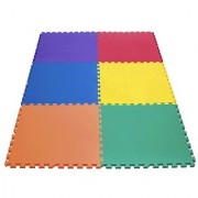 Wonder Mat 6 Piece Non-Toxic Non-Recycled Extra Thick Rainbow Playmats Red/Orange/Yellow/Green/Blue/Purple 24 x 24 x 9/16