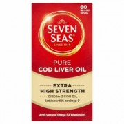 Seven Seas Pure Cod Liver Oil Extra High Strength 60 Capsules