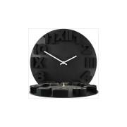 Orologio da parete con numeri 3D Nero