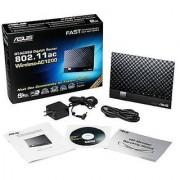 ASUS AC1200 Wireless Dual Band (5Ghz + 2.4Ghz) Gigabit Router [RT-AC56U] 802.11ac 1167 Mbps Wi-Fi Speed 4x Gigabit LAN Ports AiProtection Security AiCloud File Sharing AiRadar Beamforming