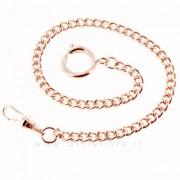 catena per orologio da tasca in metallo rosa maglia barbazzale