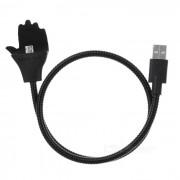 Creativa soporte USB 2.0 V8 de cable de interfaz de datos - Negro (57 cm)