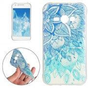 For Samsung Galaxy J1 Ace / J110 Blue Leaves Pattern TPU Protective Case