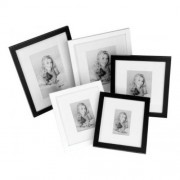 Kenro Sienna with Mount 8x6'' Black Photo Frame (Pack 1) [SE1520B]