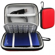 Lacdo Waterproof Hard EVA Shockproof Carrying Case Pouch Bag for Seagate Backup Plus Slim 2TB 1TB 500G / Slim for Mac Mobile Device Backup USB 3.0 / for Toshiba Canvio Basics / Canvio Connect / Canvio Slim II / 2.5 inch Porta