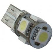 Autós led T10 CANBUS helyzetjelző,index világítás, 5050 chip, 5 led, 115 Lumen, 1,5W, sárga, nem T10 izzó! Life Light Led