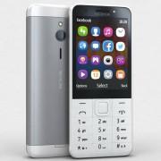Nokia 230 RM1172 Dual Sim 16MB RAM - Plata