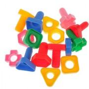 Magideal Kids Screw Pair Soft Splicing Building Blocks Desktop Fun Educational Toy