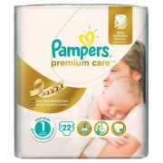 Scutece Premium Care 1 New Baby Small Pack, 22 buc, Pampers