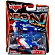 Masinuta Disney Cars Neon Racers Raoul Caroule With Exclusive Metallic Deco