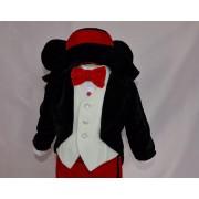 Costumaș Botez Mickey Mouse - 6 piese