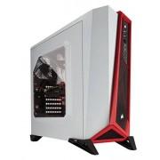 Corsair CC-9011083-WW Carbide Series SPEC-ALPHA Fenêtré Moyenne Tour ATX Boitier gaming Blanc/Rouge
