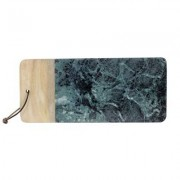 Skärbräda marmor/trä grön