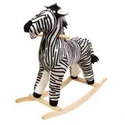 Happy Trails Zebra Plush Rocking Animal