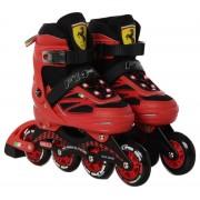 Ferrari® FS4 36-39 méret között állítható fémcsatos görkorcsolya Piros színben