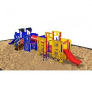 Kidstuff Playsystems, Inc. Kidvision Train Engine and Caboose 1004 Color: Red and White