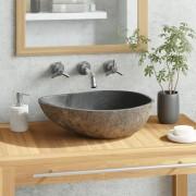 vidaXL Umyvadlo z říčního kamene oválné 40 cm