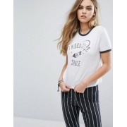 Pull&Bear I Need Some Space T-Shirt - White (Sizes: S)