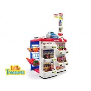 Little Treasures Dessert Shop Complete With Cash Register, Pricing Gun, Pin Pad, And Shelves Stocked With All Types Of Food And Desserts 40+ Accessories Included In This Play Set For Children 3+
