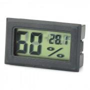 """1,5 """"LCD Température / Humidité de mesure Thermomètre / hygromètre - Noir (2 x LR44)"""