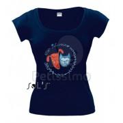 Tricou Petissimo Original de femei - albastru XS-S