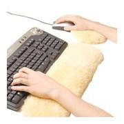 Kit computador protetor de pulsos em lã natural - Naturlamb
