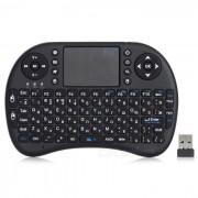 RII RT - MWK08 2?4 GHz 92 -Key Teclado ruso w / touch pad - negro