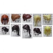 LEGO City Bulk Lot of Female/Girl Minifigure Hairs Quantity 10 Different