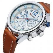 CURREN Heren Sporthorloge Militair horloge Dress horloge Modieus horloge Polshorloge Japans Kwarts Waterbestendig Leer BandVintage Cool
