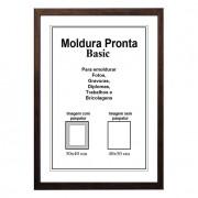 Moldura Pronta 40x50 Basic Tabaco Casa Castro