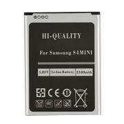 plt24 batteria di ricambio per SAMSUNG GALAXY S4 MINI i9190, i9195 LTE sostituisce EB-B500BE/EB-B500BU handyakku Li-Ion 2100 mAh batteria Battery Custodia Batteria Accu, senza NFC (batteria S4 Mini)