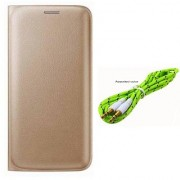 Lava A76 Flip cover With Aux Cable-Color May Vary