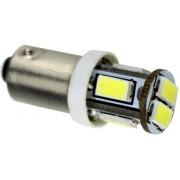 Autós led BA9S helyzetjelző,index világítás, 6 led, 165 Lumen, 3W, sárga Life Light Led