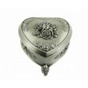 Šperkovnice kovová srdce + růže 8061 8061